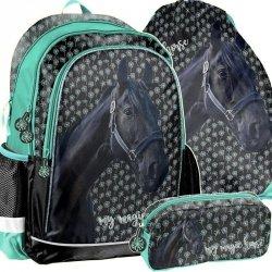 Plecak do Szkoły w Konie dla Dziewczyny Zestaw Koń [PP19KN-081]
