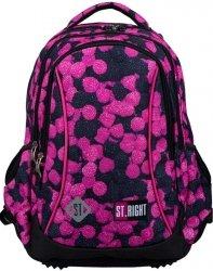 Plecak Młodzieżowy St.Right dla Dziewczyny Berries Owoce Leśne [BP26]