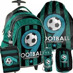 Plecak z Kółkami dla Ucznia Piłka Nożna Zestaw [PP19F-997]