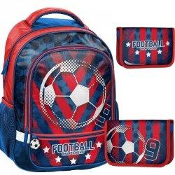 Plecak Szkolny Piłkarski dla Chłopaka Zestaw 2w1  [18-260FL]