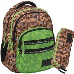 Minecraft Plecak dla Chlopaka Szkolny Pixele Gra Gry [PLB3M68]