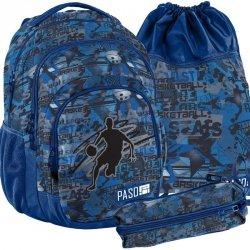 Plecak Niebieski Młodzieżowy Szkolny Basketball Zestaw [18-2706BB]