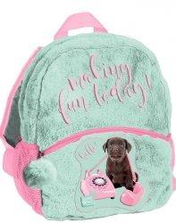 Plecaczek dla Przedszkolaka Pluszowy Plecak z Pieskiem dla Dziewczyny [PEW-305]