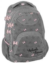 Plecak Młodzieżowy Szary dla Dziewczyny Myszka Minnie Mini [DISD-2708/16]