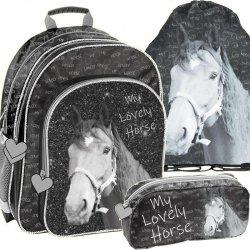 Plecak Szkolny Modny w Konie dla Dziewczynki Komplet [PP19KO-090]