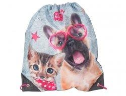 Worek na Buty Obuwie Kot Kotek Pies Piesek Gimnastyczny PEE-712