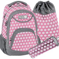 Plecak Młodzieżowy Komplet Szkolny Różowy [18-2708PI/16]