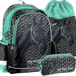 Plecak dla Dziewczyny Szkoły w Konie Komplet Koń [PP19KN-081]