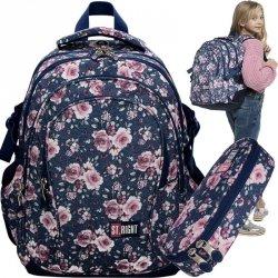 Plecak St.Right Róże Szkolny Młodzieżowy w Kwiaty [BP1]