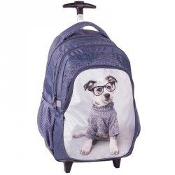 Plecak na Kółkach Pies z Pieskiem Szkolny Niebieski