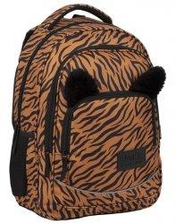 Tygrys Plecak BackUP Młodzieżowy Szkolny z Uszami [PLB3YA18]