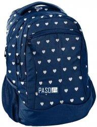 Plecak Młodzieżowy Szkolny Niebieski w Serduszka [18-2808HA/16]