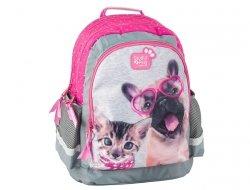 Plecak Szkolny z Kotkiem Pieskiem Pies Kot do Szkoły PEE-116