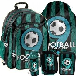 Plecak Szkolny Piłką Nożną Chłopięcy Wygodny Zestaw [PP19F-090]