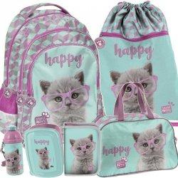 Plecak z Kotkiem w Zestawie Kot Szkolny dla Dziewczyny [PTF-181]