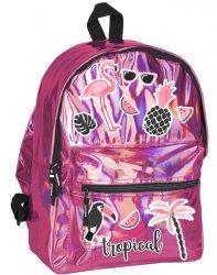 Plecak Hologram dla Dziewczyny Szkolny Różowy [PPLS-770]