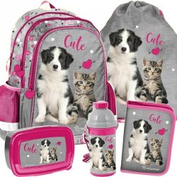 Plecak na Plecy Kot i Pies dla Dziewczyny Szkolny [RLE-081]
