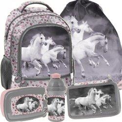 Plecak Szkolny z Koniami dla Dziewczyny Szkolny Zestaw [PP19HS-260]