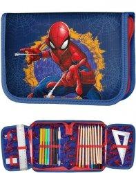 Piórnik Spiderman dla Chłopaka Szkolny z Wyposażeniem [SPU-001]