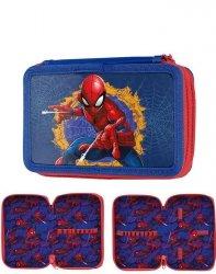 Piórnik SpiderMan Szkolny Dwukomorowy [SPU-022BW]