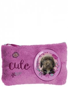 Piórnik Pluszowy Pies Piesek Szkolny dla Dziewczynki [RHX-079]