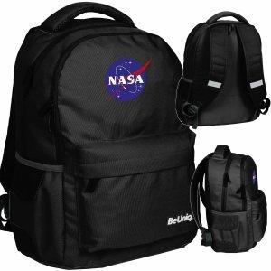 Czarny Plecak Nasa Szkolny dla Uczeniów Kosmos BeUniq [NASA21-2705]