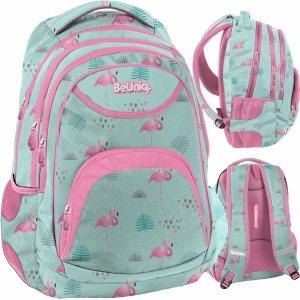 Flamingi Plecak dla Dziewczyny Nastolatki Miętowy BeUniq [PPLF19-2708]