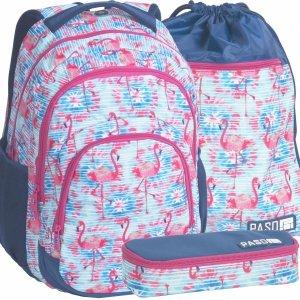 Duży Plecak Flamingi Młodzieżowy dla Dziewczyny [18-2706FLA]