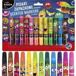 Zapachowe Flamastry Pisaki Owocowe 12 Kolorów Kidea [PZ12KA]