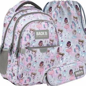 BackUP Młodzieżowy Szkolny Plecak Baletnica dla Dziewczynek Wróżki [PLB3P21]