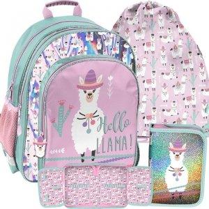 Piękny Plecak Szkolny w Lamy Kolorowy dla Dziewczynki [PP19LA-090]