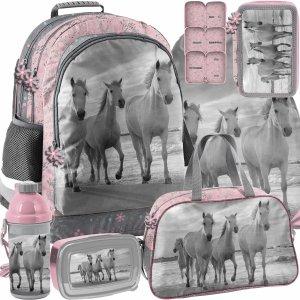 Modowy Plecak z Koniem Szkolny Koń Konie Paso Zestaw 6w1 [PP21HO-116]