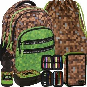 Plecak Pixsele dla Chłopaków Minecraft Gra Gry Game [PLB3M68]