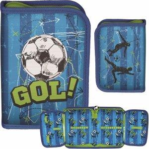 Piórnik Rozkładany dla Chłopaków Piłka Nożna Niebieskie Zielony [PP20FB-001BW]