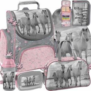 Konie Tornister Dziecięcy do 1 klasy w Zestawie 6w1 Paso [PP21HO-525]