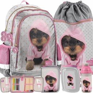 Plecak dla Dziewczynki Uczennicy z Pieskami York w Bluzie Paso [PTJ-081]