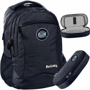 Czarny Młodzieżowy Plecak ALOHA BeUniq dla Uczniów [PPAL20-2808]