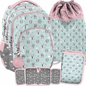 Miętowy Plecak do Szkoły z Misiami Panda Paso [PP21PD-2706]