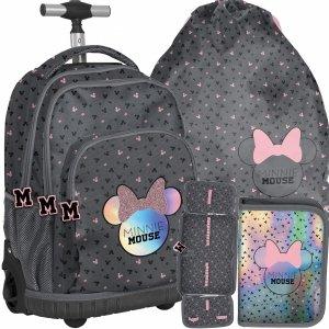 Nowy Szkolny Plecak na Kółkach Myszka Minnie dla Dziewczynki [DMNA-671]