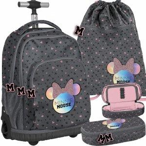 Duży Plecak na Kółkach Myszka Minnie Dziewczęcy [DMNA-671]