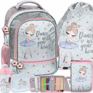 Szkolny Plecak dla Uczennic Komplet Baletnica Tancerka [PP21BL-260]