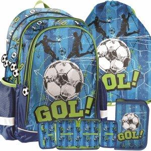 Plecak Chłopaka do Szkoły Piłka Nożna Niebieski Zielony [PP20FB-081]