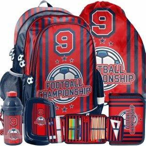 Komplet 5w1 Plecak Szkolny dla Uczniów Football Piłka Nożna [PP21FO-081]