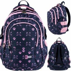 St.Right Młodzieżowy Plecak z Kotkami dla Dziewczyny  [BP1 CATS & PAWS]