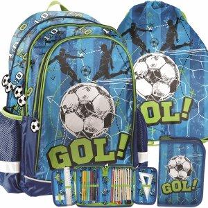 Piłkarski Plecak dla Chłopaków do Szkoły z Piłką Paso [PP20FB-081]