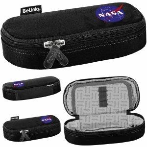 Czarny Piórnik NASA Usztywniany Szkolny BeUniq [NASA21-013]