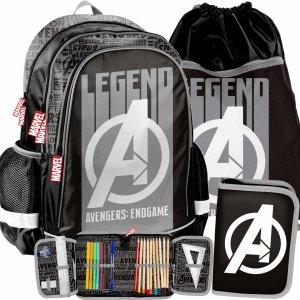 Avengers dla Chłopaka Plecak do Szkoły Szary [AMAL-081]