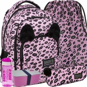 Dziewczęcy Plecak Pluszowe Uszy BackUP Szkolny Różowy Panterka [PLB3YA17]