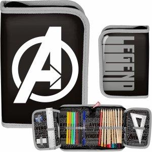 Avengers Piórnik z Wyposażeniem dla Chłopaków Szary [AMAL-001]