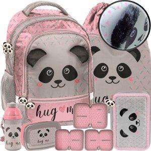 Plecak z Pluszowymi Uszami Szkolny z Misiem Pandą dla Dziewczynki [PP20PA-260]